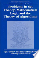 Problems in Set Theory  Mathematical Logic and the Theory of Algorithms