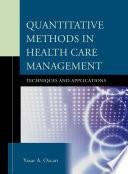Quantitative Methods In Health Care Management
