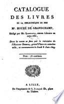 Veilingcatalogus, boeken Houzé de Grandchamp, 8 juni e.v. 1809