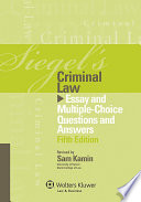 Siegel s Criminal Law
