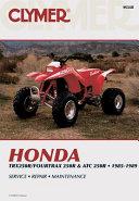Honda Trx 4trx Atc 250r 85 89