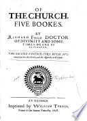 Of the Church, Five Bookes