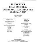Plunkett S Real Estate Construction Industry Almanac book
