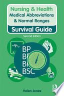 Medical Abbreviations Normal Ranges