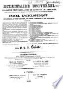 Dictionnaire universel de la langue françoise, avec le latin et l'étymologie...