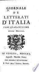 Giornale de  letterati d Italia