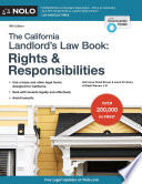 California Landlord s Law Book  The  Rights   Responsibilities