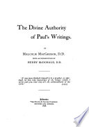 The divine authority of Paul s writings