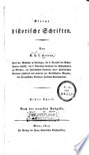 Kleine historische Schriften