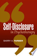 Self disclosure in Psychotherapy
