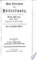 Neue Litteratur und Völkerkunde