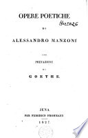 Opere poetiche con prefazione di Goethe