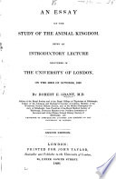 An Essay on the Study of the Animal Kingdom