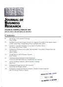 Journal Of Business Research Jbr