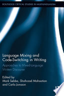 Language Mixing And Code Switching In Writing