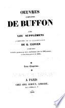 Oeuvres compl  tes de Buffon avec les suppl  mens  Quadrup   des