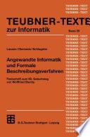 Angewandte Informatik und Formale Beschreibungsverfahren