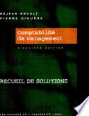 Comptabilit   de management  Recueil de solutions