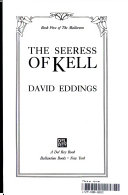 The Seeress Of Kell book