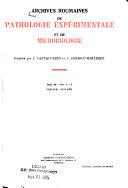 Archives Roumaines de Pathologie Exp  rimentale Et de Microbiologie