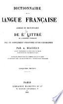 Dictionnaire de la langue fran  aise abr  g   du dictionnaire de     Littr    Avec un suppl  ment d historie et de g  ographie  par A  Beaujean