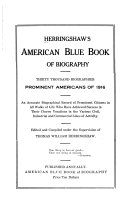 Herringshaw s American Blue book of Biography