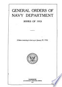 General Orders of Navy Department series of 1913
