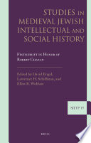 Studies in Medieval Jewish Intellectual and Social History