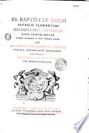 Io. Baptistae Donii,... Inscriptiones antiquae nunc primum editae notisque illustratae et XXVI indicibus auctae ab Antonio Francisco Gorio