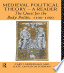 Medieval Political Theory  A Reader
