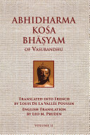 Abhidharmakosabhasyam of Vasubandhu - Vol. II Book