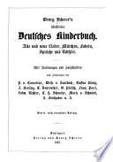 Georg Scherer's illustrirtes Deutsches Kinderbuch. Alte und neue Lieder, Märchen, Fabeln ... Mit Radirungen und Holzschnitten ... Vierte, reich vermehrte Auflage