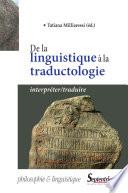 illustration du livre De la linguistique à la traductologie
