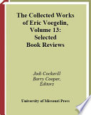 Selected Book Reviews By Eric Voegelin Between 1929 And