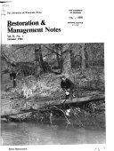Restoration   Management Notes