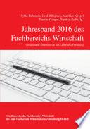 Jahresband 2016 des Fachbereichs Wirtschaft