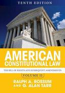 American Constitutional Law  2 Volume Set