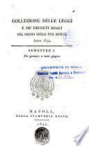 Collezione delle leggi e de  decreti reali del Regno delle Due Sicilie