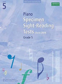 Piano Specimen Sight Reading Tests  Grade 5
