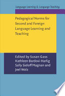 Pedagogical Norms for Second and Foreign Language Learning and Teaching
