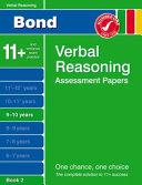 Bond Verbal Reasoning Assessment Papers 9-10 Years