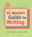 The St  Martin s Guide to Writing Short Edition with 2016 MLA Update