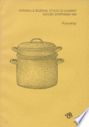 National   Regional Styles of Cookery