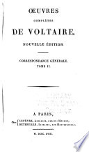 Oeuvres compl  tes de Voltaire  Correspondance g  n  rale
