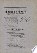 State of New York Supreme Court APpellate Division Fourth Department Book PDF