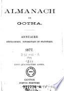 Almanach De Gotha Pour L' Année ...