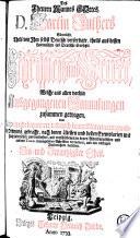 S  mtliche theils von ihm selbst deutsch verfertigte  theils aus dessen lateinischen ins Deutsche   bersetste Schrifften und Werke