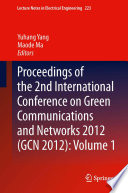 Proceedings of the 2nd International Conference on Green Communications and Networks 2012  GCN 2012