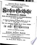 Protestantische Kirchengeschichte in Schlesien