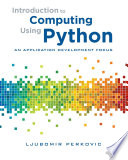 Introduction To Computing Using Python An Application Development Focus